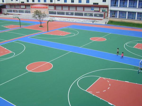 水性硅PU球场地坪